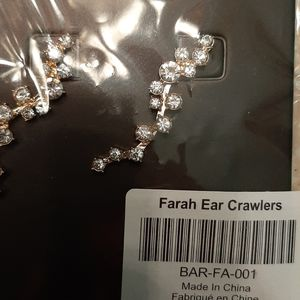 Bauble bar crawler type fish hook earrings. New